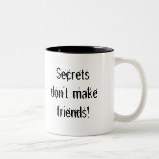 Hemligheter gör inte vänner! mugg