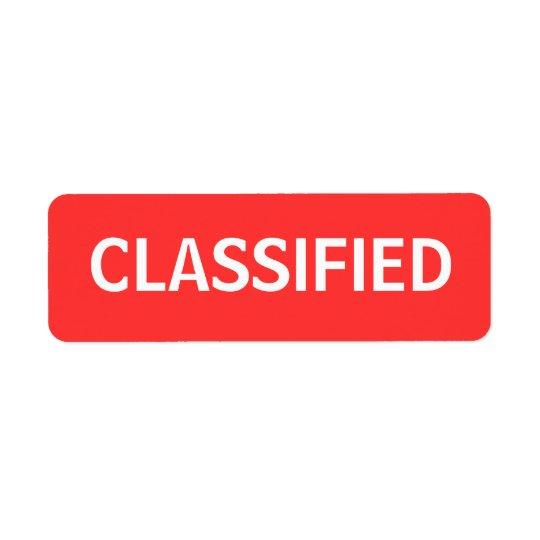 hemligt returadress etikett