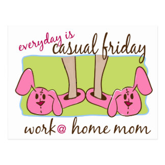 Hemmastadd mamma för arbete vykort