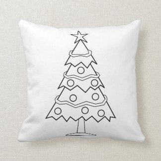 Hemmastatt julgranhantverk för rolig färg kudde