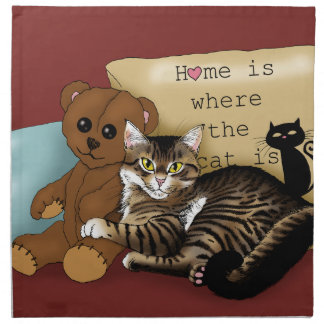 Hemmet är var katten är… tygservett
