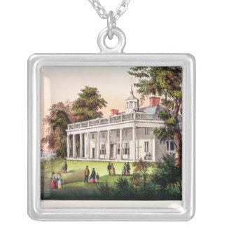 Hemmet av George Washington Silverpläterat Halsband