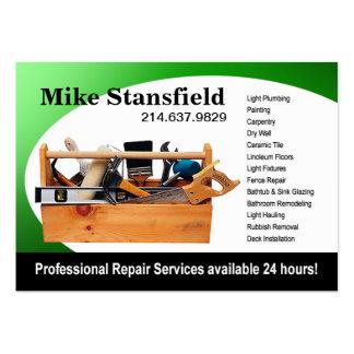 Hemmet reparerar handymannen set av breda visitkort