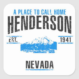 Henderson Fyrkantigt Klistermärke