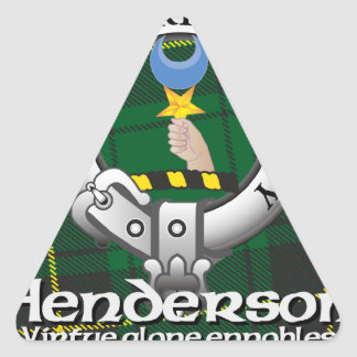 Henderson klan triangelformat klistermärke