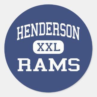 Henderson rammar mellersta Henderson Runt Klistermärke