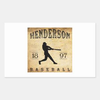 Henderson Tennessee baseball 1897 Rektangulärt Klistermärke