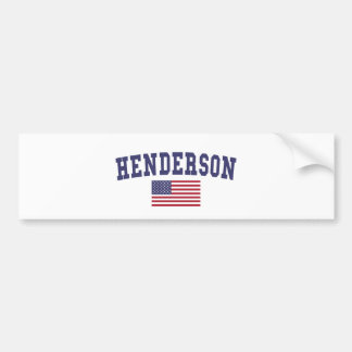 Henderson US flagga Bildekal