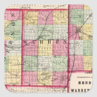 Henderson Warren, Knox län Fyrkantigt Klistermärke