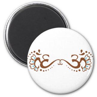 HennaOm-dubbla Magnet För Kylskåp