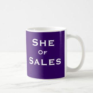 Henne av för Saleperson för Salar rolig kvinnlig Kaffemugg