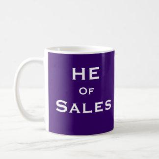Henne av för Saleperson för Salar rolig Male Kaffemugg