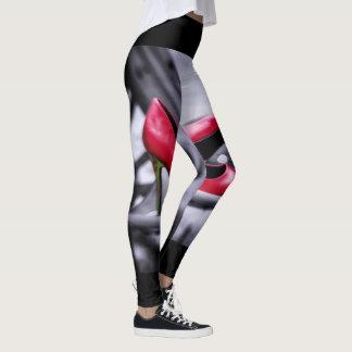 Henne funderare min sexiga röda högklackartraktor leggings