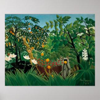 Henri exotiska Rousseau landskap affischen Poster