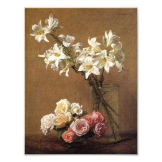 Henri Fantin-Latour ro- och liljatryck Fototryck