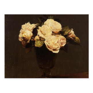 Henri Fantin-Latour- vit ros Vykort