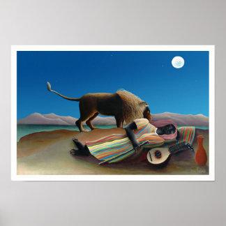 Henri Rousseau - den sova zigenaren Poster
