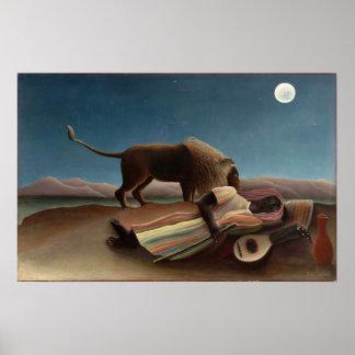 Henri Rousseau den sova zigenaren Poster