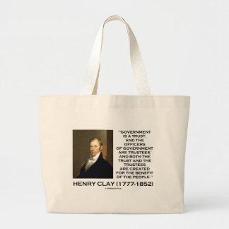 Henry Clay Govt förtroende Officers är Jumbo Tygkasse