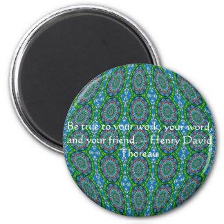 Henry David qoute med primitiv stam- design Magnet