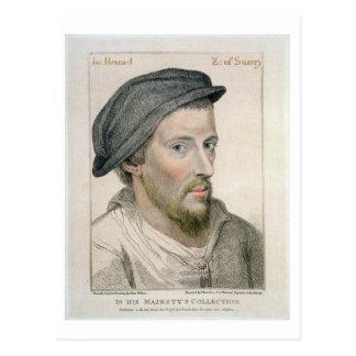 Henry Howard, inristad Earl av Surrey (c.1517-47) Vykort