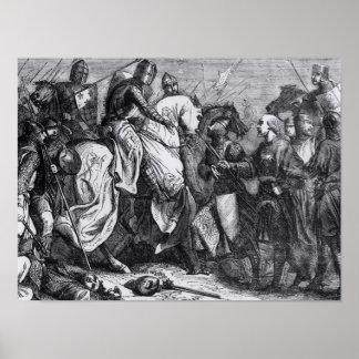 Henry III på striden av Lewes, 14th maj 1264 Poster