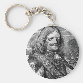 Henry Morgan piratporträtt Rund Nyckelring
