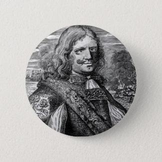 Henry Morgan piratporträtt Standard Knapp Rund 5.7 Cm
