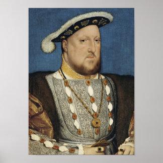 Henry VIII - Hans Holbein det mer ung Poster