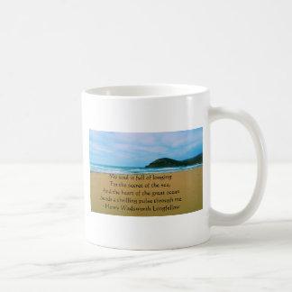 Henry Wadsworth Longfellow andligt citationstecken Kaffemugg