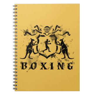 Heraldisk boxninganteckningsbok anteckningsbok