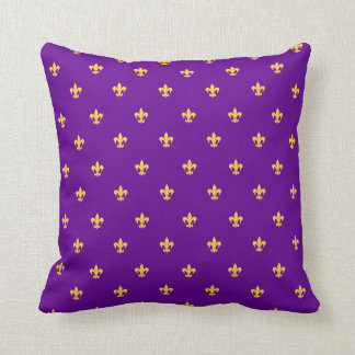 Heraldiska Lilly på purpurfärgad bakgrund Kudde