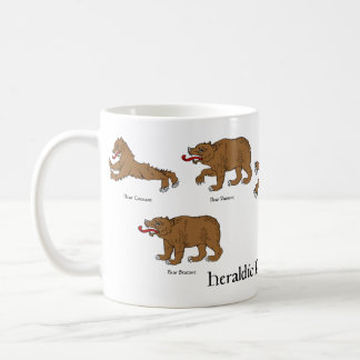 Heraldiskt poserar för björnmugg kaffemugg