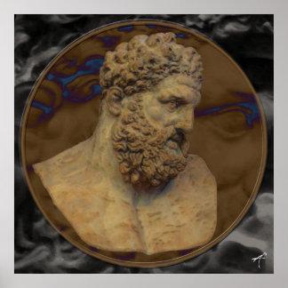 Hercules pankt foto på kanfas affisch
