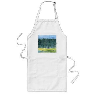 Herdabrevet landskap konstförklädet långt förkläde