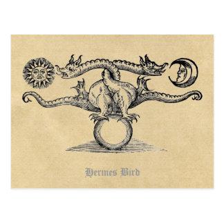 Hermes fågelalkemi vykort