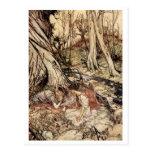 Hermia och Lysander Vykort