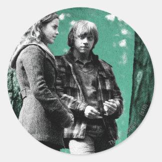 Hermione Ron och Harry 1 Runda Klistermärken