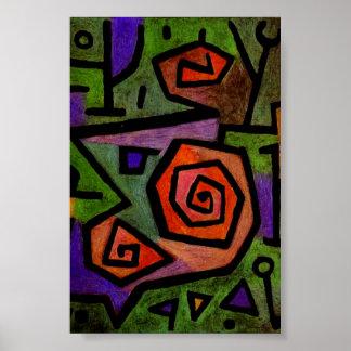 Heroiska ro vid Paul Klee den abstrakt Poster