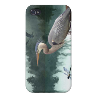 Herons Egret, kråkor, fodral för iPhone 4 Skydd