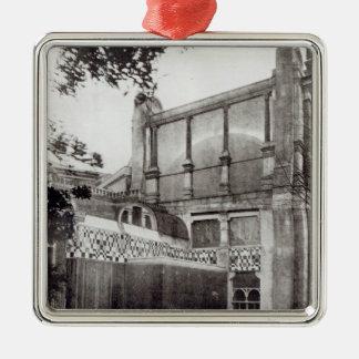 Herr Alma Tadems hus, norrsida, 1889 Julgransprydnad Metall