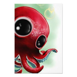 Herr bläckfisk fototryck