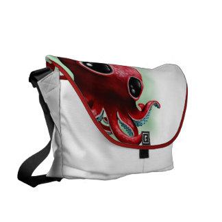 Herr bläckfisk kurir väskor