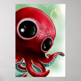 Herr bläckfisk poster