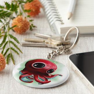 Herr bläckfisk rund nyckelring