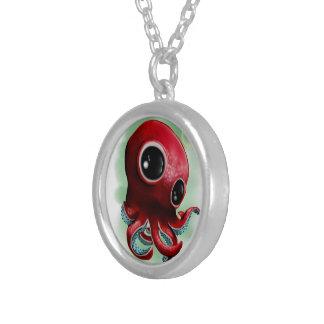 Herr bläckfisk silverpläterat halsband