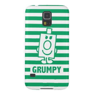Herr busig Grumpy | grinar och görar grön randar Galaxy S5 Fodral