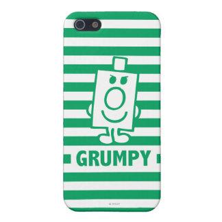 Herr busig Grumpy | grinar och görar grön randar iPhone 5 Skal
