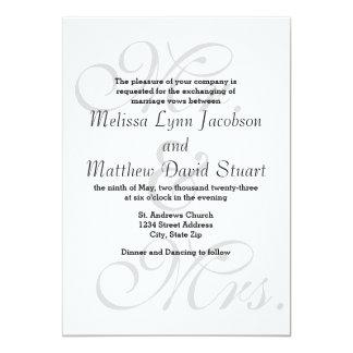 Herr & Fru - bröllopinbjudan 12,7 X 17,8 Cm Inbjudningskort