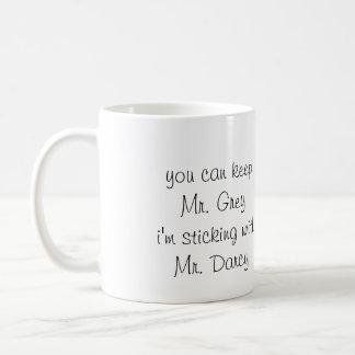 Herr grå färg vs. Herr Darcy - mugg